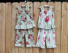 945c84dea Matching but Different Twin Girl Outfits Ruffle by BerryPatchUSA, $124.00  Ruffle Pants, Ruffle Top