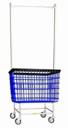 R&B Wire 200H56 6 Bu. Large Laundry Cart with Double Pole Rack by R&B Wire. $180.55. This unit is equipped with R&B's proprietary 5 Clean Wheel System - the only caster that. Choose chrome, gray or blue vinyl coated basket with a chrome or beige base and with a hanging. The air cushion bumper protects walls and equipment.. The perfect cart for a variety of industries with extra large capacity needs.. R&B Wire's Newest Cart, The Big Dog Cart, with a 6 Bushel Capacity.. R&B Wi...
