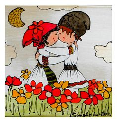 History Of Romania, Illustration Blume, Folk Fashion, Traditional Paintings, Polymer Clay Crafts, Floral Illustrations, Folk Art, Arts And Crafts, Clip Art