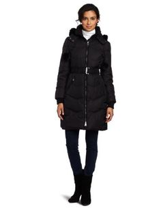 Via Spiga Women's Beatrice Belted Down Jacket Via Spiga. $175.00. 100% Polyester lining. Machine wash. 100% Nylon; Fur: Dyed Rabbit fur (China); Fill: 60% Down; 40% Waterfowl feathers. Removable hood. Belted. Genuine fur trim. Made in China. Genuine Dyed Rabbit Fur. 37 inch length. Water resistant