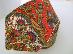 Art Deco Swiss Cotton Neck Tie  Hand Stitched by HandsomeAndLace, $69.00