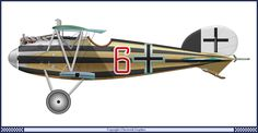 Albatros D.V of Jasta 2 circa 1917.