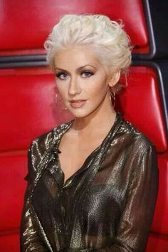 What do you think of Christina Aguilera's sheer, metallic top?