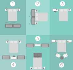 Bedroom layouts cheat sheet