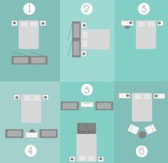 Bedroom layouts cheat sheet
