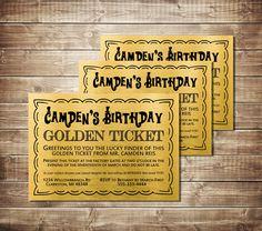 Golden ticket birthday invitation flyer template golden ticket birthday invitation willy wonka and the chocolate factory birthday etsyshoppaperprinceparties filmwisefo