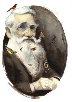Fernando Vicente - Retratos: Alfred Russel Wallace
