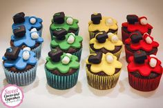 Sweet Cucas and Cupcakes by Rosângela Rolim: Mini Cupcakes Formatura