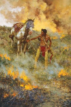"""Test of Courage"" by Howard Terpning"