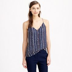 J.Crew Collection Beaded Organza Top