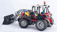 Front loader for Technic tractor: A LEGO® creation by Mark Wolstenholme : MOCpages.com