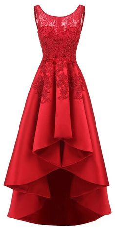 : In Stock Pretty Tulle & Satin Scoop Neckline Hi-lo A-line Prom Dresses With Hot Fix Rhinestones & Lace Appliques Middle School Dance Dresses, 8th Grade Prom Dresses, School Dresses, A Line Prom Dresses, Prom Party Dresses, Homecoming Dresses, Middle School Graduation Dresses, Long Dresses, Occasion Dresses