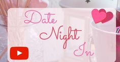 DIY DATE NIGHT IN In this video I show you guys how to set up your very own date night at home! I used my 2-tier chocolate fountain and made 3 sweet treats to dip into the chocolate i.e. rosewater rice krispie heart pops strawberry roses and heart candy chocolates...