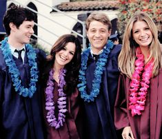 The OC. Graduation. Seth, Summer, Ryan, Marissa.