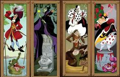 Villains portraying the Haunted Mansion Portraits