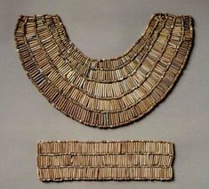 egyptian jewelry to buy | An early piece of Egyptian jewelry from the 5th dynasty: collar and ...