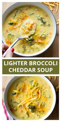 Broccoli Cheddar Soup With Milk Little Broken Broccoli Cheddar Soup With Milk Little Broken Katya Little Broken littlebroken Veggie Soup Recipes Lighter Broccoli Cheese Soup nbsp hellip cheese soup healthy Healthy Broccoli Cheese Soup, Broccoli Soup Recipes, Broccoli Cheddar, Healthy Soup Recipes, Homemade Cream Of Broccoli Soup Recipe, Coconut Soup Recipes, Slow Cooking, Cooking Recipes, Clean Eating