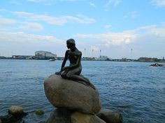 The Little Mermaid in Copenhagen harbour.