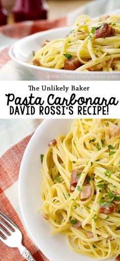 Are you a Criminal Minds fan? This is based on David Rossi's carbonara recipe from that episode where he had the team over and gave them cooking lessons! via @unlikelybaker