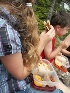 Convenient #lunchbox meals for a hike in the mountains of Vermont.