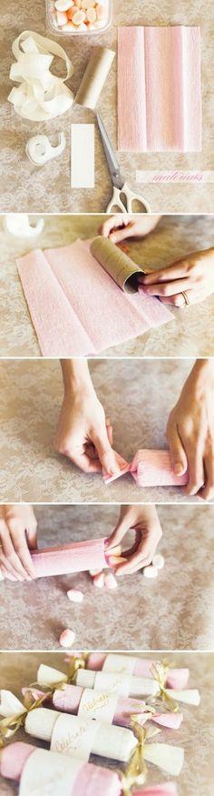 eenvoudig een traktatie maken. DIY WC-rolletje/keukenrol