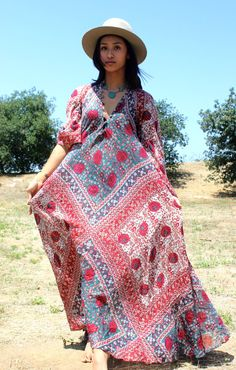 e6ace16151d Sultana By Adini Indian Maxi Dress Circa 1970s the Ultimate Bohemian Dress  Hippie Chic