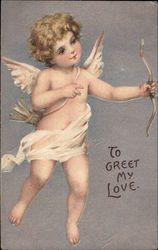 Cupid Angel Vintage valentines and Vintage cards t Vintage Valentine Cards, Vintage Cards, Amor Tattoo, Valentine Cupid, Etiquette Vintage, Angel Aesthetic, Colorful Paintings, Angel Art, Renaissance Art