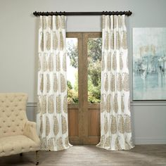 EFF Paisley Park Printed Cotton Twill Curtain Panel | Overstock.com Shopping - The Best Deals on Curtains