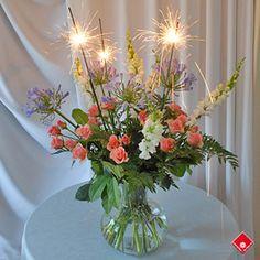 Sparkling Firecracker Flower Bouquet  2013