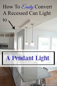 Goodbye recessed lights pendant conversion kit for an easy update how to easily convert a recessed can light to a pendant light mozeypictures Choice Image