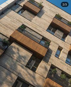 Untitled Source by haknune Wooden Facade, Brick Facade, Facade House, Brick Architecture, Residential Architecture, Amazing Architecture, Brick Design, Facade Design, Exterior Design