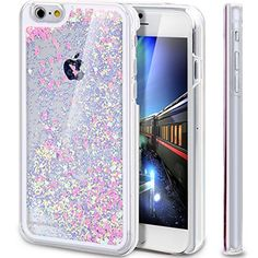 iPhone 6S Case, Liquid Case for iPhone 6S,Creative Design Flowing Liquid Floating Luxury Bling Glitter Sparkle Love Heart
