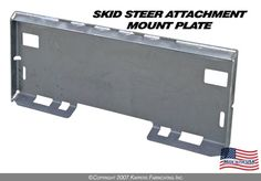 """Skid Steer Attachment Mount Plate Location: /Skid Steer Mount Plates/Skid Steer Attachment Mount Plate Product Information Brand new """"KFI"""" Skid Steer Attachment Mounting Plate Skid Steer Attachments, Tractor Attachments, Atv Winch, Tractor Implements, Welding Projects, Tractors, Construction, Plates, Lawn"""