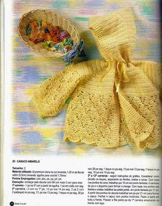Crochê Tricô do Bebê: Casaquinho com capuz em crochê
