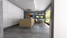 Diseño de cocina con campana de techo Pando. Diseño realizado por JDIAS (Portugal)