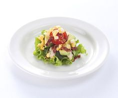 American Cobb Salad Chicken leg meat marinated with shiokoji and served with avocado, Japanese egg and blue cheese to give a mouthful of deliciousness