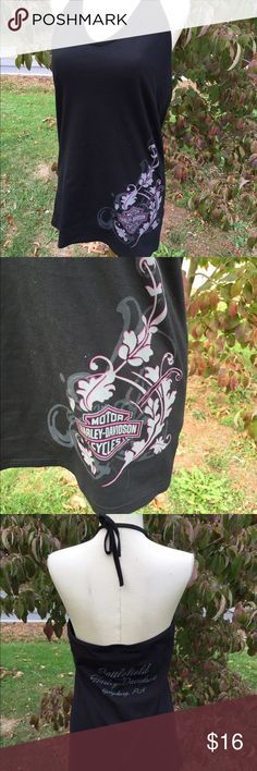 Harley Davidson Halter Tank Top Size XL Size XL. Super gently preowned Harley-Davidson Tops Tank Tops