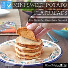 """Easy Recipe:  Mini Sweet Potato Flatbreads  #21dsd #flatbread #energy                                                      Diane Sanfilippo 