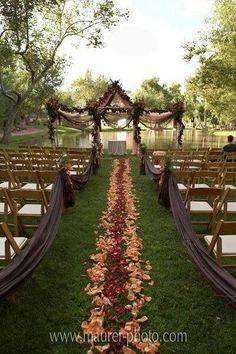 Beautiful fall themed wedding