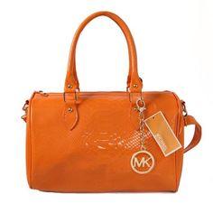 Perfect Michael Kors Embossed leather Medium Orange Satchels, Perfect You