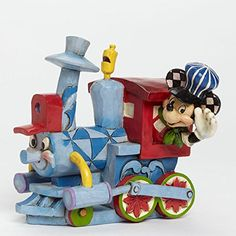 Enesco Jim Shore 4043654 045544719636 Disney Traditions All Aboard the Birthday Train Casey Jr. Train with Mickey Mouse Figurine Mickey Mouse Train, Disney Mickey Mouse, Disney Pixar, Disney Characters, Walt Disney, Minnie Mouse, Mickey Mouse Figurines, Disney Figurines, Collectible Figurines