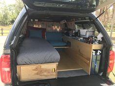 Minivan Camping, Truck Bed Camping, Pickup Camping, Stealth Camping, Family Camping, Build A Camper Van, Car Camper, Camper Beds, Mini Camper