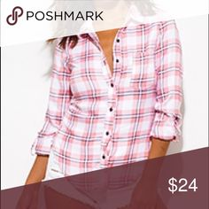 Pink Plaid Flannel Another must have piece for fall. I am obsessed with plaid flannels this fall. They are so cozy and versatile that you can dress this however you like. Chic Couture Tops Button Down Shirts