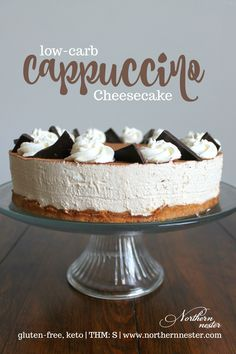 This low-carb, no-bake cappuccino cheesecake is the perfect ending to your meal. Not too sweet and made without any special ingredients, it's a THM S.