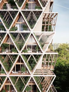 Precht Designs Timber Skyscrapers with Modular Homes and Vertical Farming,The Farmhouse Concept. Image Courtesy of Precht - Gallery of Precht Designs Timber Skyscrapers with Modular Homes and Vertical Farming - 5 Villa Architecture, Parametric Architecture, Green Architecture, Concept Architecture, Futuristic Architecture, Sustainable Architecture, Beautiful Architecture, Contemporary Architecture, Triangular Architecture