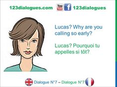Dialogue 7 - English French Anglais Français - What time is it? - Quelle...