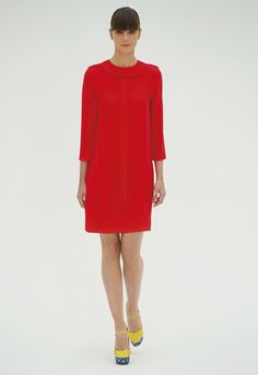 Victoria Beckham  Inside Out SS/12  Printed smooth viscose, in red