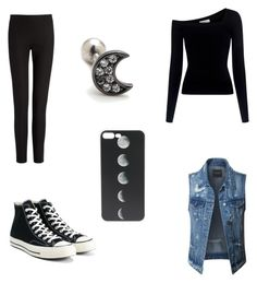 """Untitled #12"" by bjvonelling ❤ liked on Polyvore featuring LE3NO, A.L.C., Joseph and Converse"