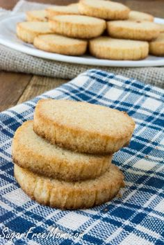 Sugar Free Grain Free Vanilla Wafers made low carb, grain free and gluten free!