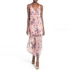 Rank & Style - Lush Floral Print Surplice Maxi Dress #rankandstyle